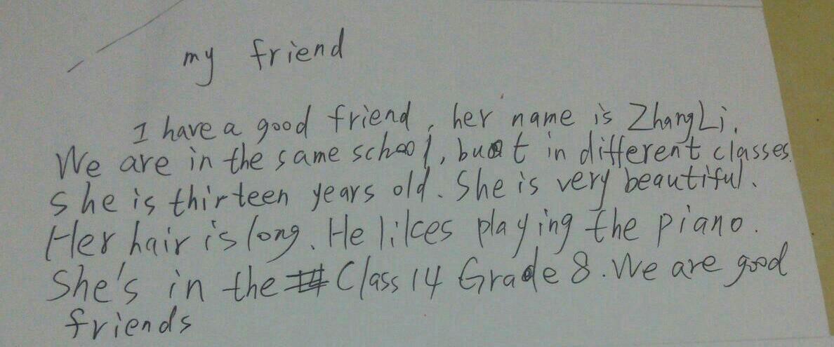 以myfriend目的高中一篇英语作文,我的朋友叫张丽,谢谢么为题难知识图片
