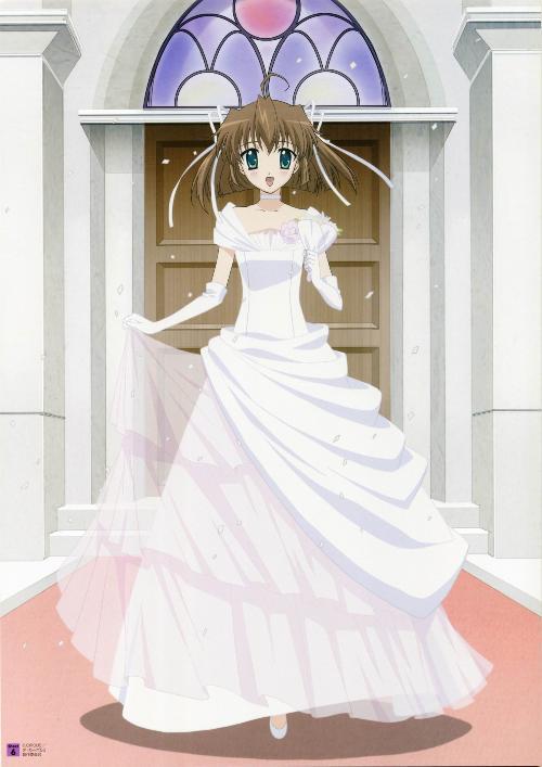求穿婚纱的动漫女生头像