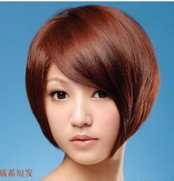 (急)女生大头大圆脸,剪什么短发好!图片