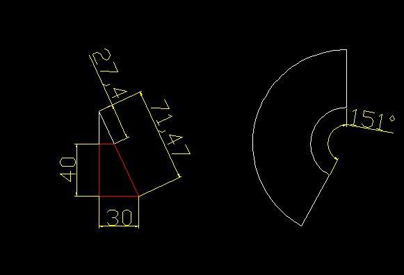 求此圆锥展开后扇形的角度和弧长的记算公式