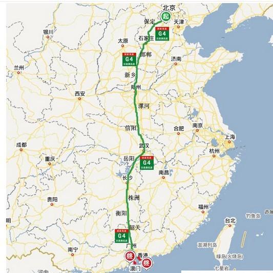 就是走高速公路也要从武汉过呀.图片
