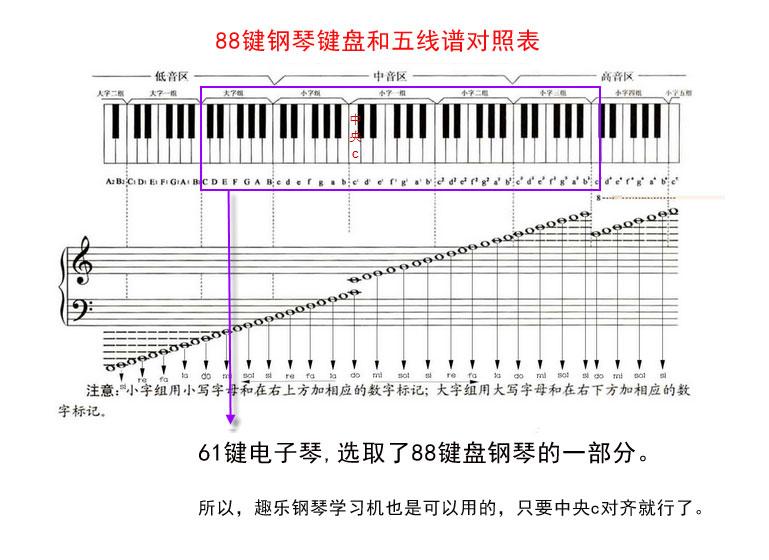 电子琴的49 61键是什么意思图片