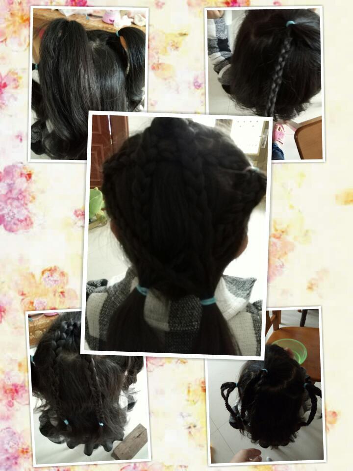 【萌宝发型】之五角星编发图片