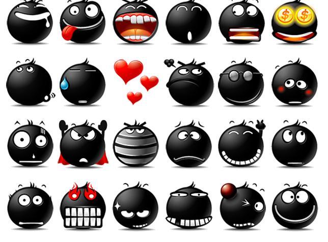 是网易黑色popo(泡泡)表情图片