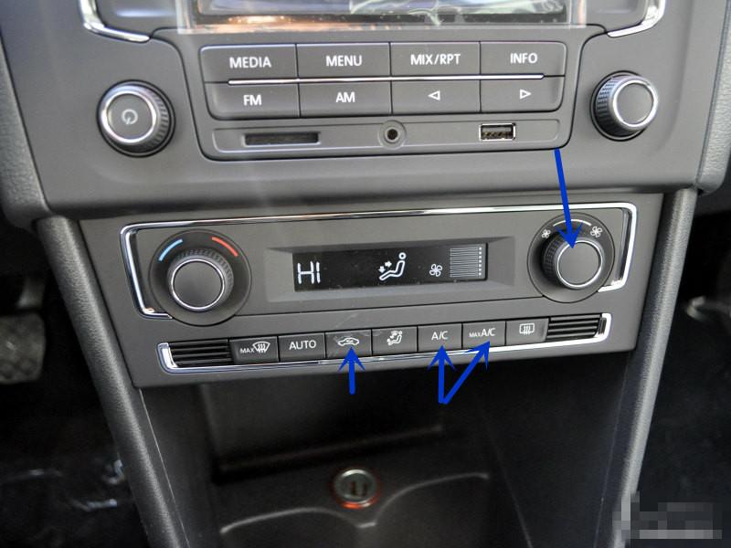 新桑塔纳汽车 仪表盘 里的温度是指的车内的温度还是的高清图片