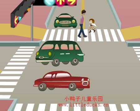 小学生交通安全儿歌图片