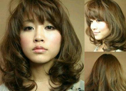 求是和中年女圆脸显年轻发型图片
