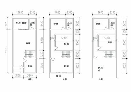 求5.5×15m的房屋设计图图片
