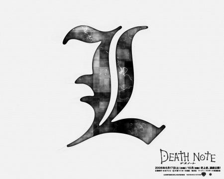 _跪求死亡笔记中,l 的字体