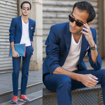 色配天蓝色好看吗_天蓝色韩版修身衬衣怎么配裤子和鞋