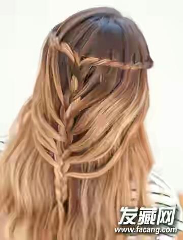 瀑布编�yf�x�_美人鱼瀑布发型,直发编出来好看吗?