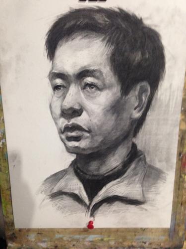 素描头像联考浙江图片
