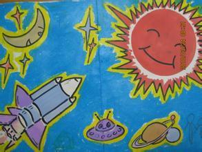 小学二年级关于太空的绘画有哪些图片