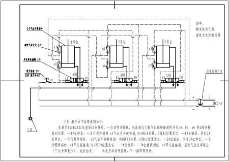 给你发个气动回路原理图,上面有一般气缸开关的画法.你自己看.图片