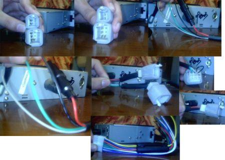 cd机时钟供电.)cd上的红色线是接点火开关的,就是拨动钥匙到高清图片