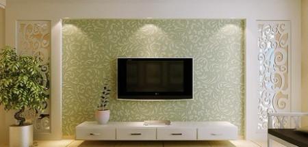 关于婚房影视墙设计,欧式的图片
