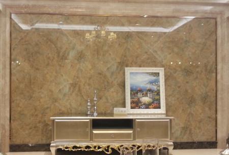 欧式电视背景墙造型用石膏线条,还是用木线条喷漆好?图片