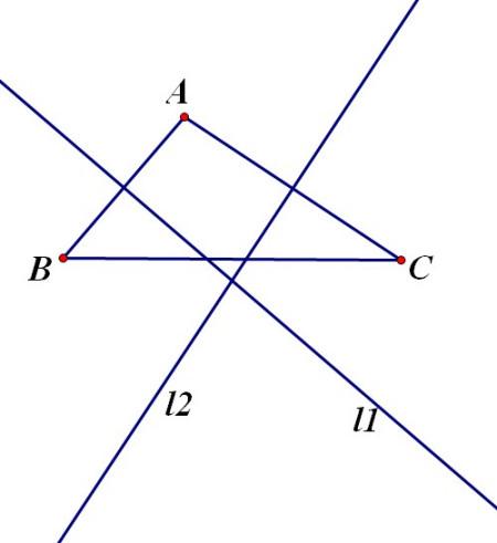 任意画一个钝角三角形abc(∠a>90°).①用直尺和圆规.图片