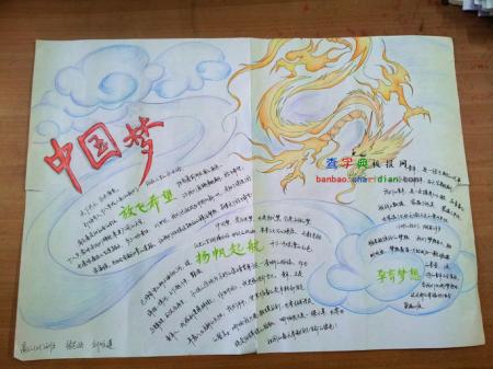 关于中国梦的英语手抄报素材或图片