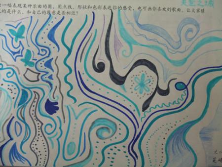 怎么画五年级上册美术课文《画音乐》图片