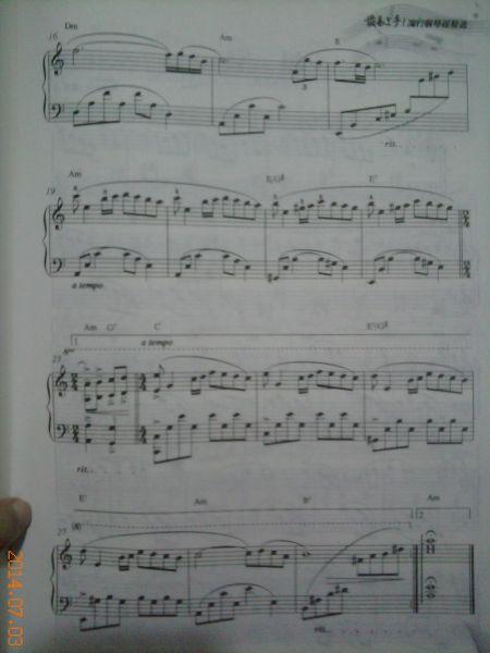 钢琴曲秋日的私语有简单的琴谱吗图片
