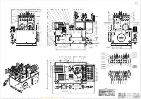 液压系统装配图,就是液压站图片