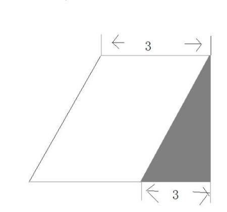 下图中三角形的面积是6平方厘米,求平行四边形的面积