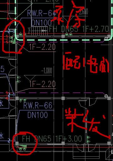 如图:水泵房,配电间,柴油发电机房顺序连在一起,在泵房和配电间之间图片