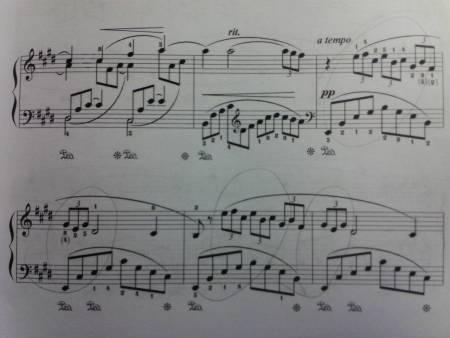 钢琴谱帮忙图片