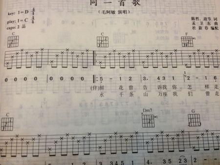 等  是你左手按着的和弦   接下来 右手部分依次按六线谱上的小星星弹图片
