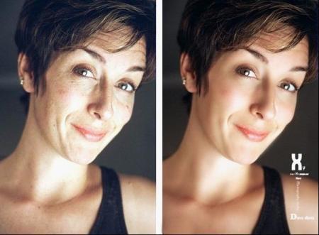 用photoshop如何处理人物面部图片