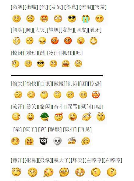微信表情符号的意思图片