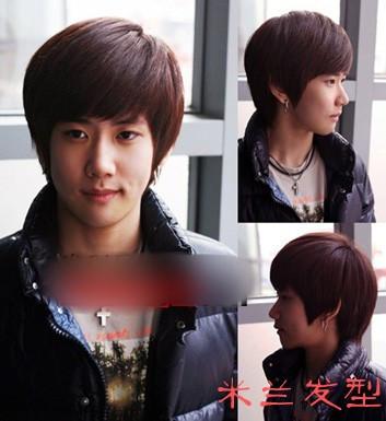 男生韩式发型怎样做,我去不了理发店,只能自己来做做看,工具不多图片