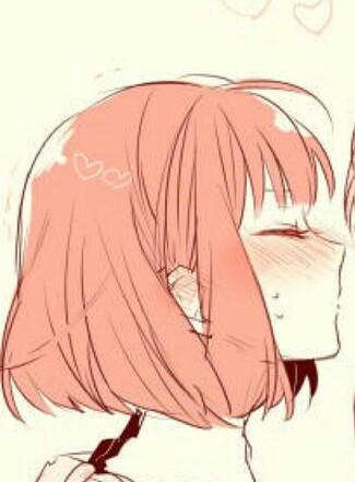 二次元情侣接吻头像,要一对图片