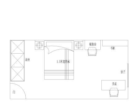 长方形卧室怎么摆