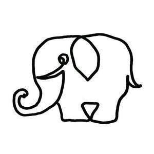 一笔画成的动物图片_一笔画成的小动物图片