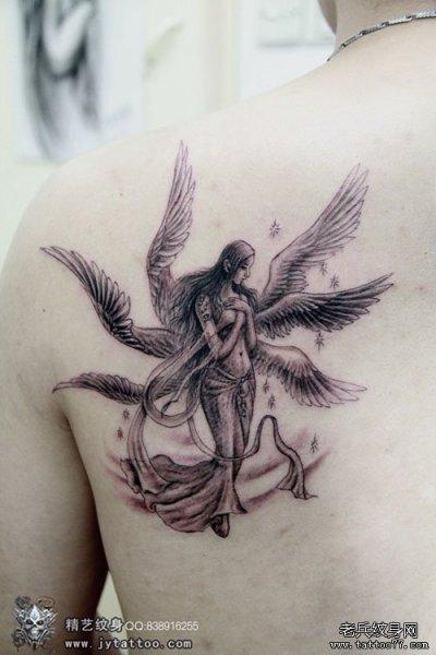 寻找一张有感觉的六只翅膀的炽天使 纹身手稿,高清图片也行.图片