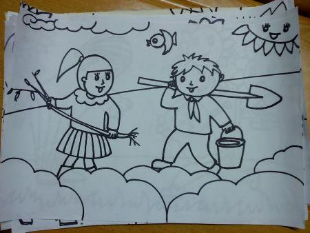 五一劳动节的简笔画
