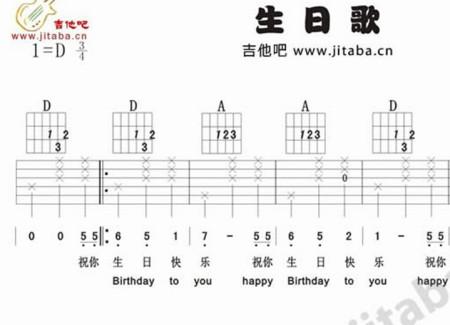 吉他d和弦好难按啊 按2弦的无名指老是容易挨1弦太紧图片