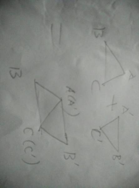 两个形状完全相同的三角形,一定可以拼成一个平行四边图片