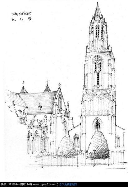 求欧风建筑动漫图片最好是哥特式的图片