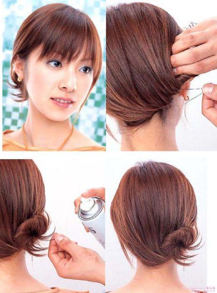短头发的女孩应该怎么扎头发才好看?图片