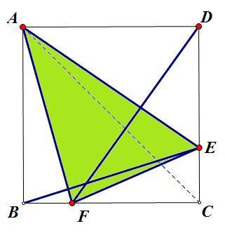 如图,正方形abcd的边长为12厘米,三角形abe,三角形adf图片