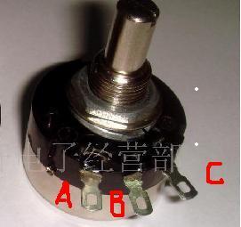 电位器调电阻接线用哪二只脚 图