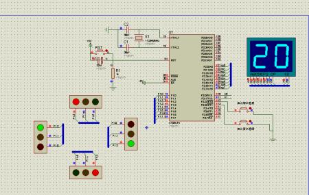 求基于单片机设计的交通灯电路图和设计过程以及所需要的硬件设施等图片
