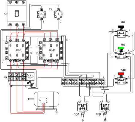 怎么用两个交流接触器和一个继电器控制电机的图啊不要点动啊图片