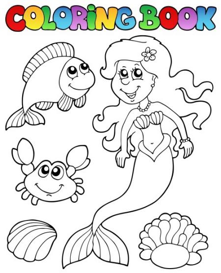 谁有美人鱼的简笔画图片
