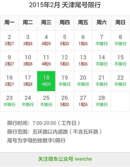 天津今天限号多少 天津2015年限号时间表 天津今天限号多少2015 天津