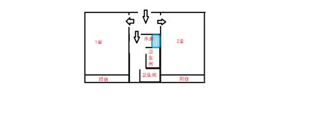 (1) 东区(王城校区)女生宿舍4人间构造图片