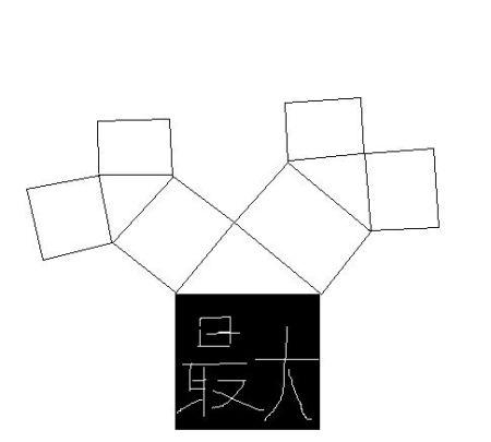 如图,图中所有四边形都是正方形,所有三角形都是直角三角形,请在途中图片
